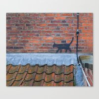 Cat Graffiti Canvas Print