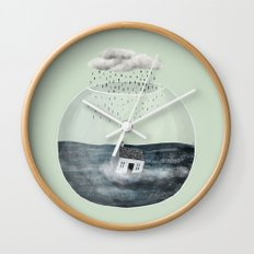 Glass Bowl House Wall Clock