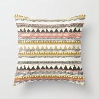 Mountain triangle pattern Throw Pillow