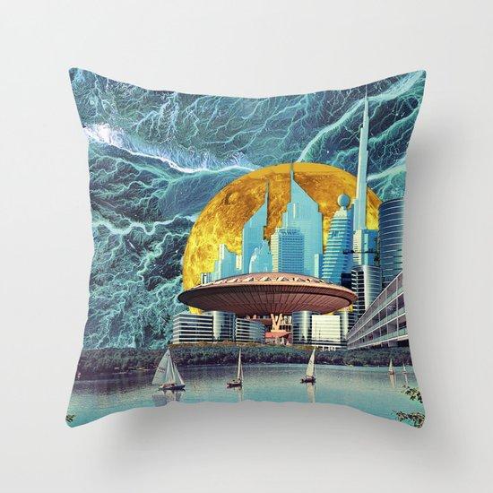 Electrical Storm on Epsilon Eridani-b Throw Pillow