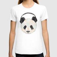 panda T-shirts featuring Polkadot Panda by Sandra Dieckmann
