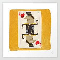 Colonel Gaddafi - 'The House always Wins' Art Print