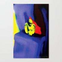 Lamentation In Blue, Yel… Canvas Print