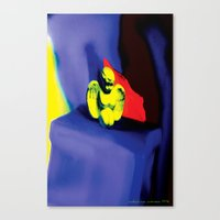 Lamentation in Blue, Yellow, and Orange Canvas Print