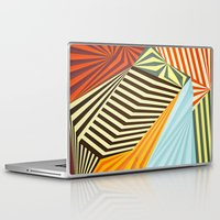 stripes Laptop & iPad Skins featuring Yaipei by Anai Greog
