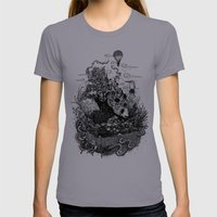 Land Of The Sleeping Gia… Womens Fitted Tee Slate SMALL