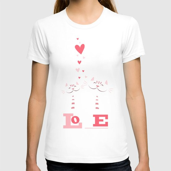 2 Cats in Love T-shirt