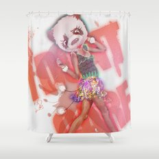 i DON't CARE Shower Curtain