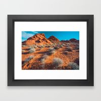 Valley Of Fire Framed Art Print