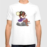 Gypsy Girl Mens Fitted Tee White SMALL