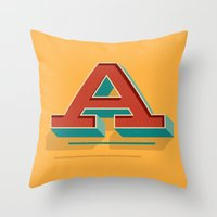 A is for... Anything Throw Pillow