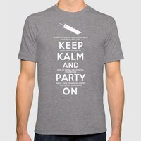 Final Fantasy 7: Keep Kalm Mens Fitted Tee Tri-Grey SMALL