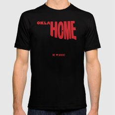 oklaHOME SMALL Mens Fitted Tee Black