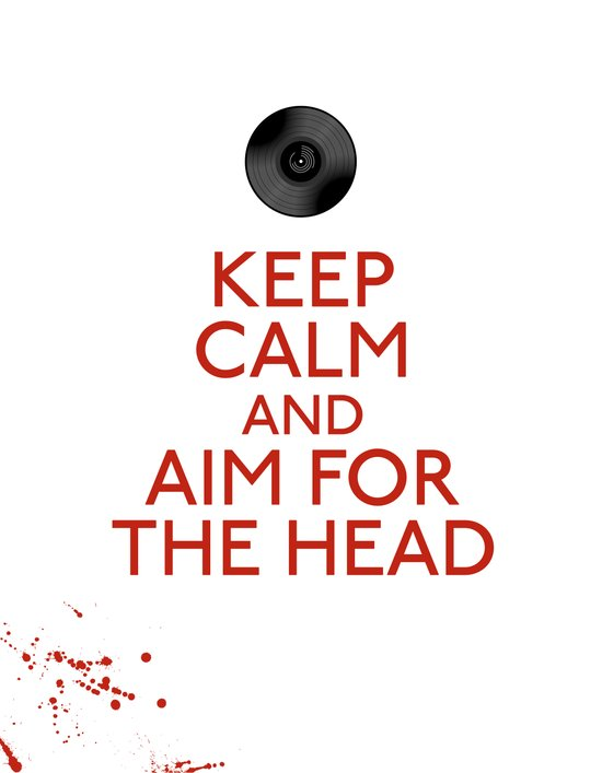 Aim for the head Art Print
