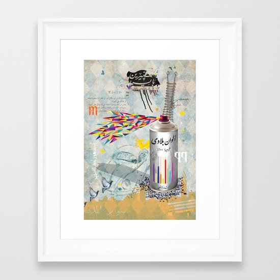 Sprayed Framed Art Print