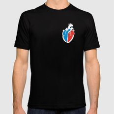 We Love Infographics SMALL Black Mens Fitted Tee