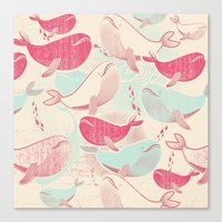 Whale ReUnion Canvas Print