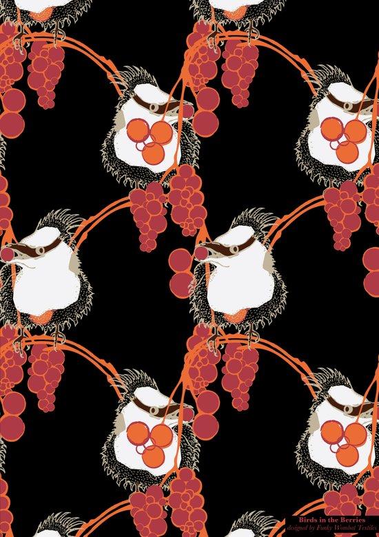 Birds in the Berries Art Print