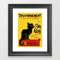 Chat Noir Monsieur Steve Framed Art Print