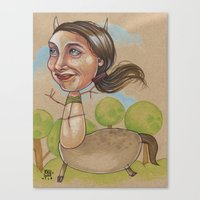 HAPPY CENTAUR Canvas Print