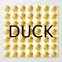 Duck S Canvas Print