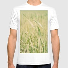 Grass SMALL White Mens Fitted Tee