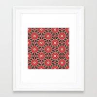 kalei naranja Framed Art Print