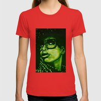 Badu?!-green Womens Fitted Tee Red SMALL