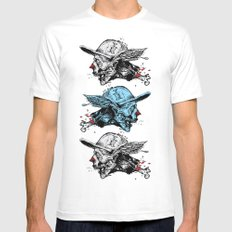 FlyingZombie SMALL White Mens Fitted Tee