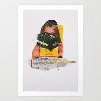 Normal Life · Beer&Woman Art Print
