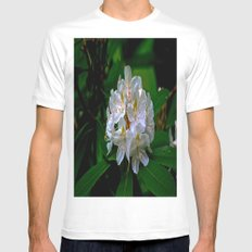 Rhododendron Bloom at Falling Water Mens Fitted Tee White SMALL