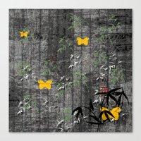 Yellow butterflies Canvas Print