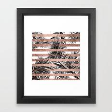 Trendy Tropical Palm Tre… Framed Art Print
