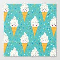 Ice Cream Party! Canvas Print