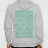 Teal And Gold Hoody