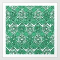 saffreya green Art Print