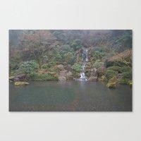 Zen Waterfall in Portland Canvas Print