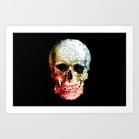 Skull Coloride Art Print