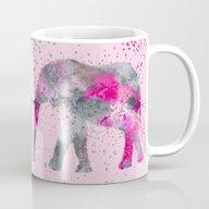 Crazy Pink Elephant Mug