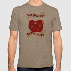 View Master Makes Pictures Come To Life Mens Fitted Tee Tri-Coffee SMALL