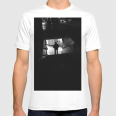 Untitled (II) White Mens Fitted Tee SMALL