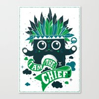 I am the chief! Canvas Print
