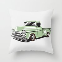 Rat Rod Truck Throw Pillow