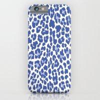 Blue Leopard Print iPhone 6 Slim Case
