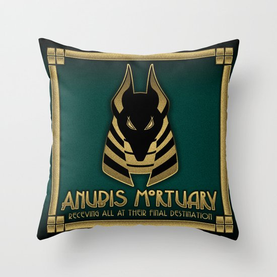 Anubis Mortuary Throw Pillow