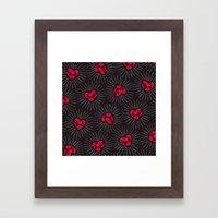 Burning Hearts Framed Art Print