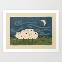 Three Sheeps To The Wind Art Print
