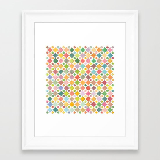 Colour Mix Framed Art Print