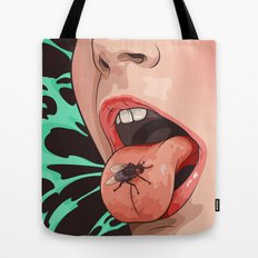 Fly and girl Tote Bag