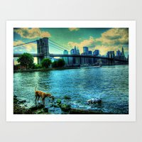 New York Brooklyn Bridge Art Print